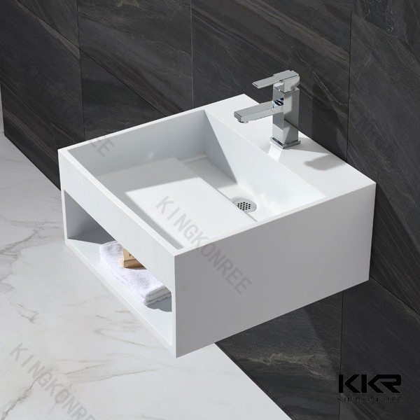 CE & SGS Acrylic Solid Surface Trough Sink , Solid Surface Bathroom Basin Furniture, Marble Hand Washing Sink & Bowl
