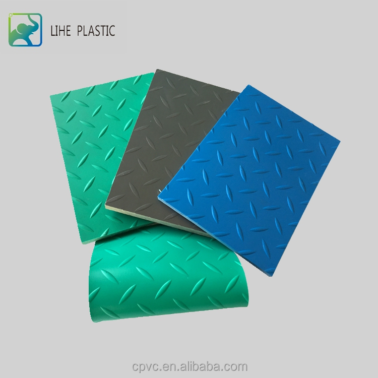 anti-skidding embossed pvc sheet/pvc plstic board/pvc soft sheet