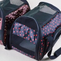 convenient useful heart printing pet transport bag