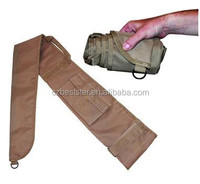 600D heavy-duty khaki roll up gun cover