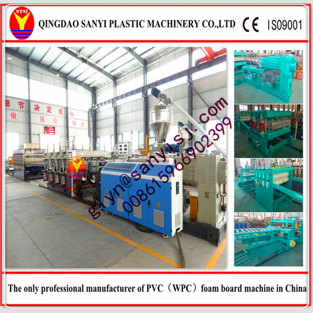pvc free foam board production line/pvc free foam board machine