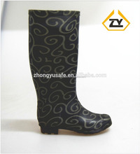 2016 Latest design women wellington boots, women fancy shoes, ladies shoes made in china