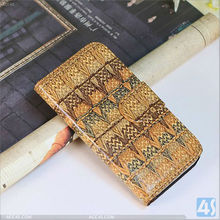 2013 Newest Product Knit Pattern Leather Stand Case for iPhone 5C P-IPH5CCASE028
