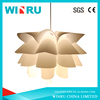 DIY Led Ceiling light IQ Jigsaw Lotus Flower pp lamp Shade