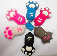Animal-feet shaped USB flash devices Silicon USB flash drives