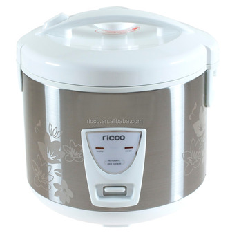 1.8L 700W Deluxe electric rice cooker with flower stainless steel body