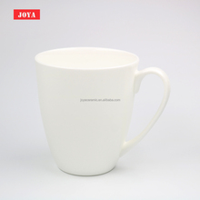 Custom Logo 13oz White Fine Bone China Ceramic <strong>Cup</strong> with Handle