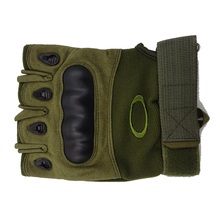 China good quality sport half finger army green tactical gloves for mens
