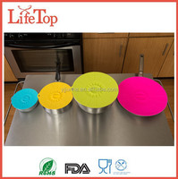 100% Food Grade Silicone Rubber Bowl Lids Silicone Suction Covers