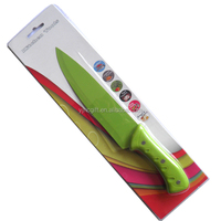 Higth quality color non-stick 7inch kitchen chef knife with PP handle