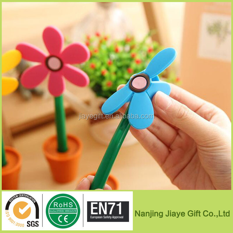 Cute Promo Gel Flower Ballpoint Pen