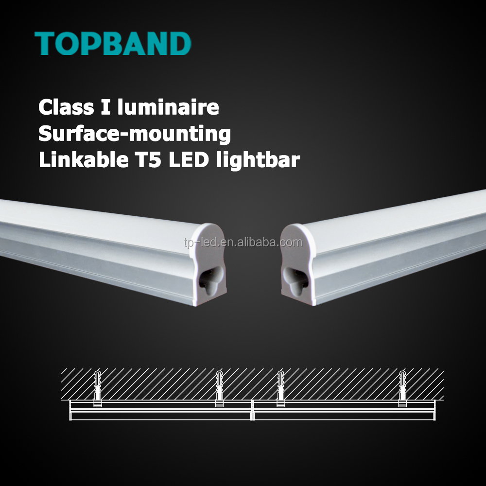 cUL DLC Listed 16W 4FT T5 LED tube light fixture AC100-277V Integrated Linkable tube
