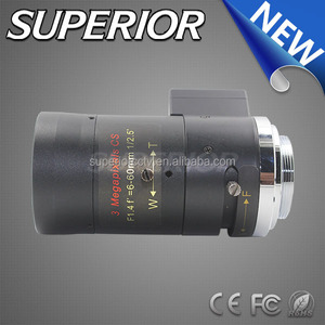 "thermal infrared ccd cmos linear sensor size 1/3"" 3MP Zoom 6-60mm f1.4 cctv Lens"