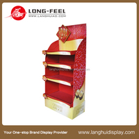new design customized candy and sweet counter displays protein bar counter display box