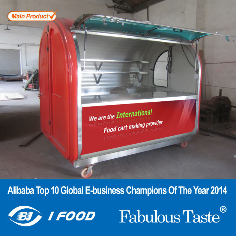 Electric tricycle food cart vending mobile food cart with wheels CE&ISO9001Approval vending bicycle