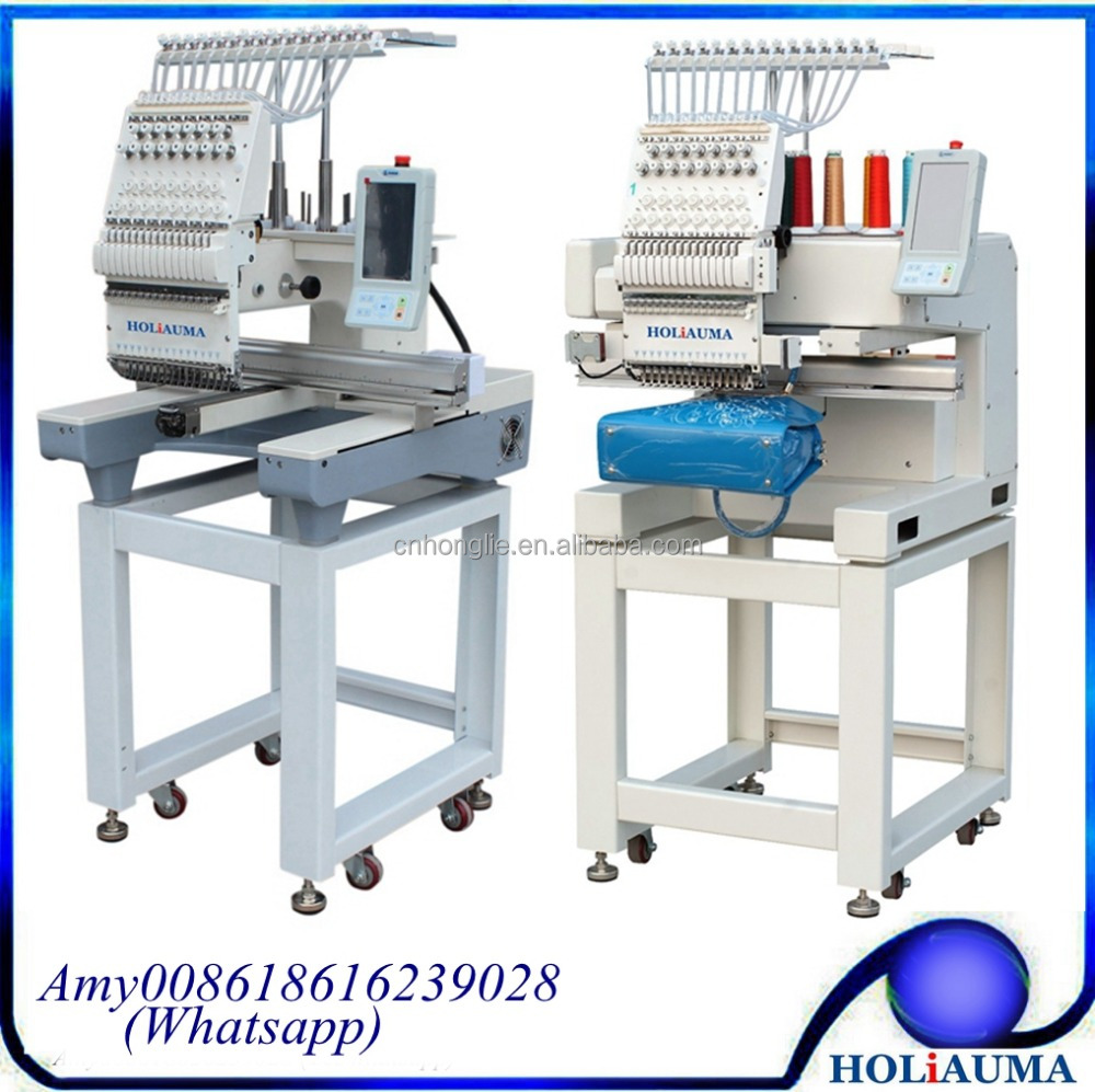 Single Head 15 Needle Clothes Digital Embroidery Machine With Servo Motor