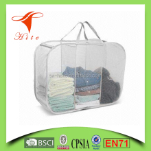 Mesh Folding Wire Laundry Basket Hanging Washable Laundry Hamper