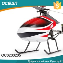 Outdoor big size rc 4ch single blade helicopter from china factory