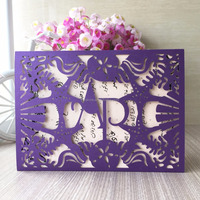 new arrival laser cut paper cards with sea star & shell decoration for wedding invitation card can be custom initinals