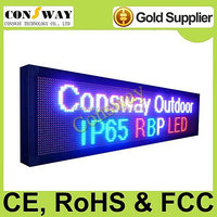Free shipping CE approved led screen outdoor p10 with RBP color and multi-language