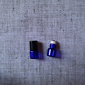 1ml 15x19mm Blue Roll On Essentical Oil Bottle With Metal Steel Roller And Plastic Cap