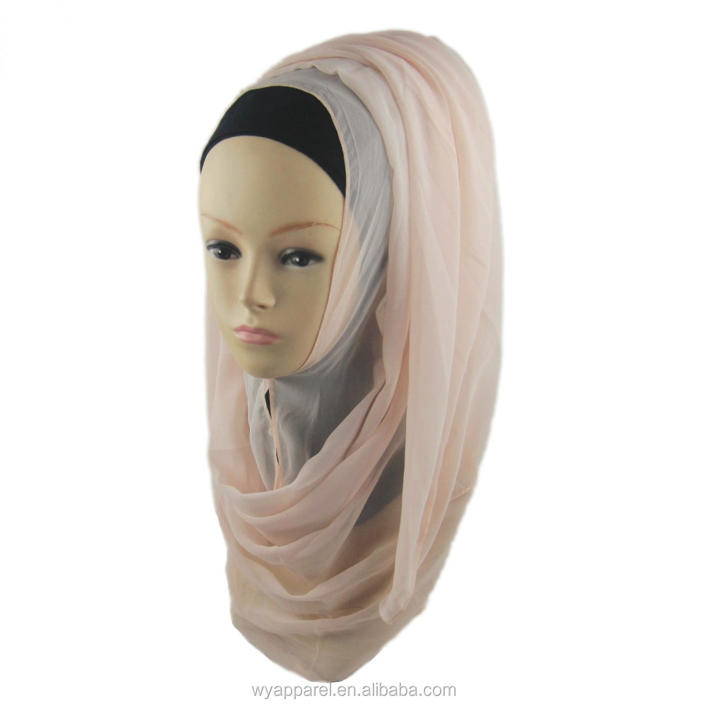 Online wholesale graceful georgette islamic long <strong>scarf</strong> georgette hijab <strong>scarf</strong>
