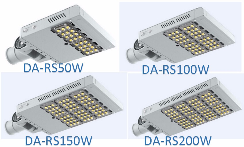 Low price UL(E481495) DLC approval Aluminium IP65 led street light 150W