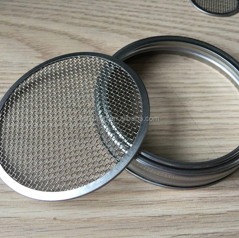 304 stainless steel mason jar sprouting lids with metal screen