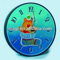 Decorative bedroom wood lovely kids clock pictures