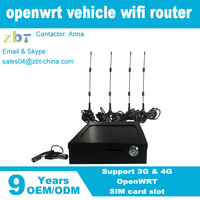 300Mbps car bus vehicle openwrt wifi router with SIM Card