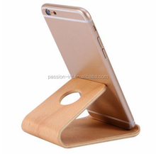 Universal Wooden Bamboo Mobile Phone Stand Holder Lightweight Slim Cellphone Stand for iphone cellphone