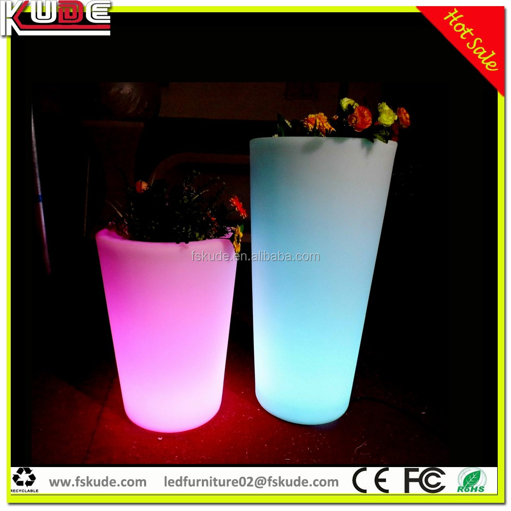 Wholesale Garden Pots Led Light Plastic Flower Pot Led