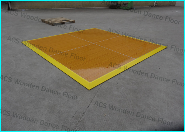 Manufacturer Gloss white portable Wooden Dance Floor in Shenzhen