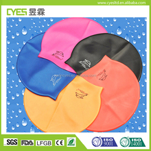 Wholesale Multi-colors Unisex watertight Elastic Prevent slippage Silicone Swim Swimming Caps Silicone
