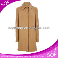 yarn dyed stone smart casual tukish ladies coats pictures with one button manufacture