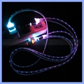 Micro USB Cable 3FT Led Light Charger Android Charging Cable for Samsung/HTC/LG/Motorola Android Smartphone