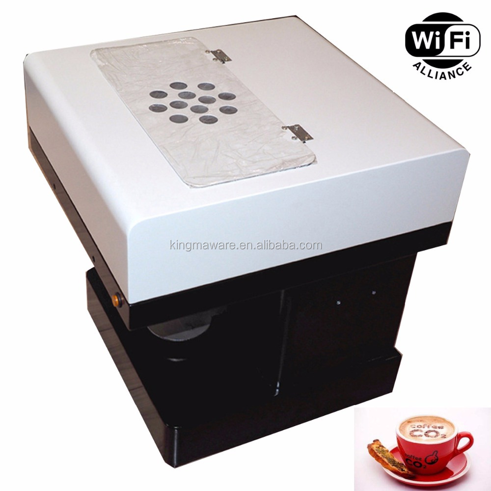 Cheap price 2017 Most popular edible food coffee printer latte art, 3D latte art coffee machine printer with WIFI function