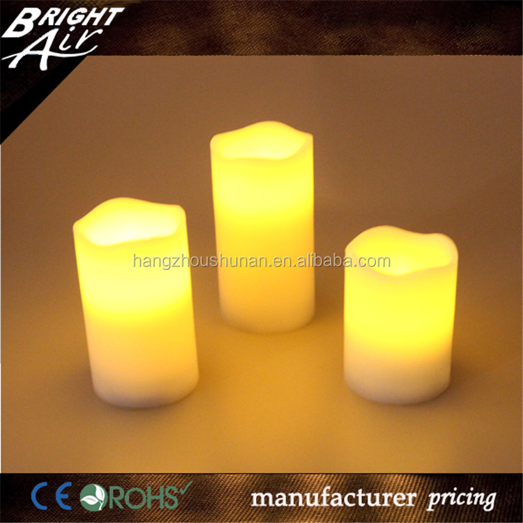 Electric Flameless church Led Wax Candle with remote controller