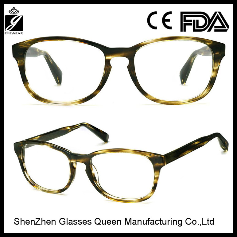 2016 custom eye glasses frame transparent acetate optical frames wholesalers in China