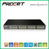 16Port 24W 24V PoE Injector Adapter Power over Ethernet