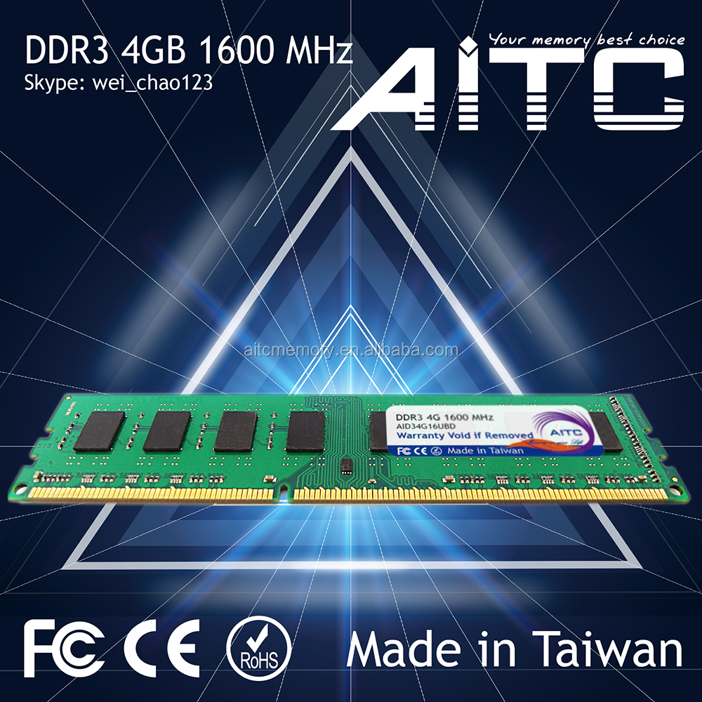 Best selling AITC ddr3 1600 mhz ram ddr3 4gb long dimm ram