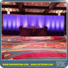 wedding backdrop stand with chiffon drapery