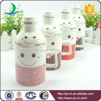 Smiling Face Creative beer mug with lid wholesale