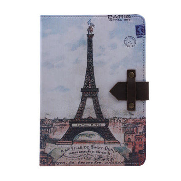 Retro Style Card Holder Magnetic Flip Stand PU Leather Case for iPad 6, phone leather case
