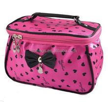 Heart Print Bowknot Zipper Travel Cosmetic Bag Purse & cheapest cosmetic bag purse