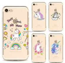 Soft colorful unicorn rainbow TPU phone case for iPhone 6 /iphone6plus/iphone 7/7plus