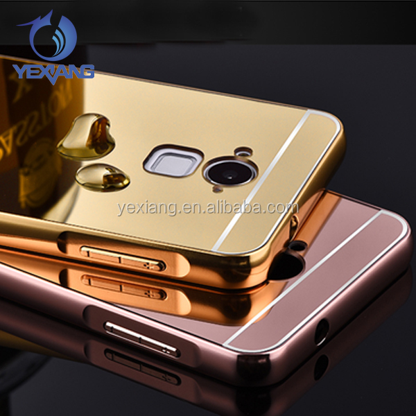 Luxury beauty case mirror metal bumper case for coolpad note 3