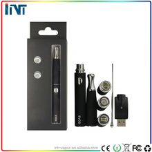 New portable wax vapor dry herb vaporizer premium Ecig Wax Vaporizer with Stainless Steel Round Drip Tip and ceramic coil
