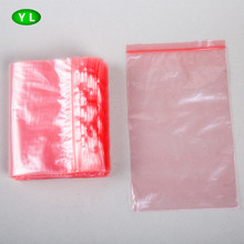 Eco-friendly LDPE pink plastic bag ziplock custom packaging bag for packing books