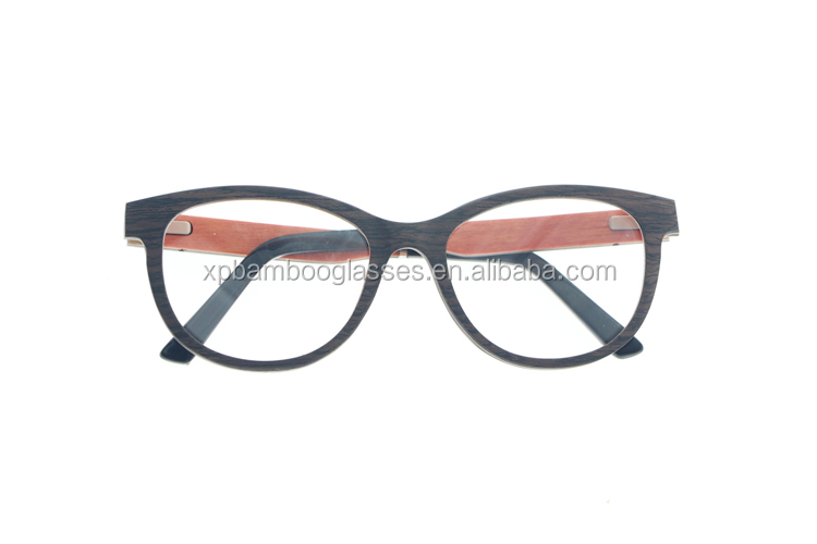 2018 High Quality Handmade Cat Style Black OAK Wood Glasses Frame